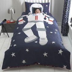 Astronaut Cot Bed Duvet Set