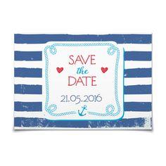 Save the Date Maritim in Kornblume - Postkarte flach #Hochzeit #Hochzeitskarten #SaveTheDate #modern https://www.goldbek.de/hochzeit/hochzeitskarten/save-the-date/save-the-date-maritim?color=kornblume&design=f2ccd&utm_campaign=autoproducts