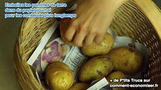 Conserver plus longetemps les pommes de terre avec du papier journal
