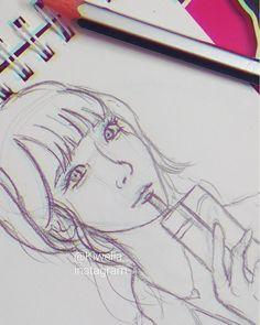 "(@kiwella) on Instagram: ""Yummi!😋 Fast sketch today✏ #sketch #art #illustration #girl #egypt #love #hollywood #japan…"""
