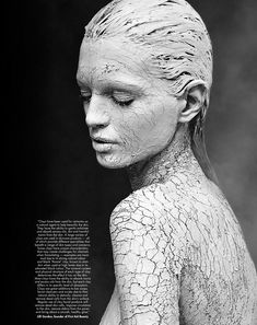 Clay-Covered Beauty Portraits State of Clay - Aurora Eysan Sulejmani starts in 'State Of Clay,' L'Official Singapore's conceptual beauty story. The model poses in a set . Abstract Photography, Artistic Photography, Portrait Photography, Levitation Photography, Experimental Photography, Exposure Photography, Water Photography, Fashion Photography, Images Esthétiques