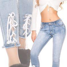 Skinny rifle so snurovanim Jeans Pants, Skinny Jeans, Boutique, Fashion, Flare Leg Jeans, Moda, Fashion Styles, Fashion Illustrations, Denim