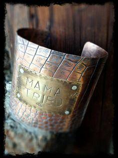 Rustic Western Cuff Bracelet Copper by cowgirlrelicsdesigns, $62.00