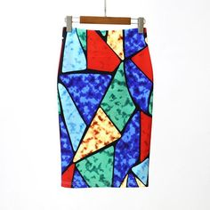 Hermicci Summer Style Pencil Skirt Women High Waist Green Skirts Vintage  Elegant Bodycon Floral Print Midi c4253f885644