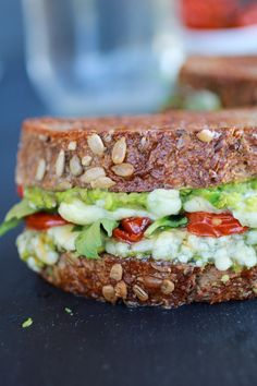 Blue Cheese + Smashed Avocado Roasted Tomato Grilled Cheese   halfbakedharvest.com/