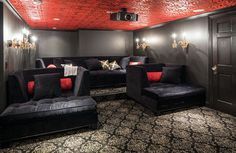 Home Theater Setup, Best Home Theater, Home Theater Rooms, Home Theater Design, Home Theater Seating, Lounge Seating, Theatre, Theater Seats, Home Theater Basement