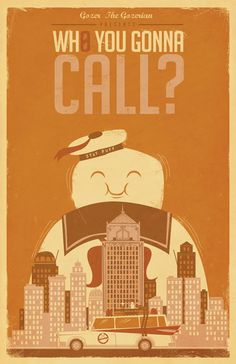 ghostbusters | by jorsh pena #geek #art #home_decor
