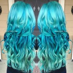 Featuring hair done by the talented: Hair Color Brand: Please share your tips and advice in keeping up with Blue hair! Blue Green Hair, Teal Hair, Turquoise Hair, One Hair, Dye My Hair, Hair Color Brands, Pretty Hair Color, Coloured Hair, Hair Game