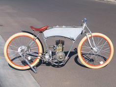 Click this image to show the full-size version. Gas Powered Bicycle, Bicycle Engine Kit, Motor Cruiser, Motorised Bike, Drift Trike, Motorized Bicycle, Old Frames, Fish Shapes, One Pic