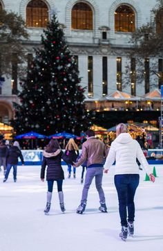 Go ice skating in Bryant Park - one of the best things to do in New York City at Christmas. #NYC #NewYork #NewYorkCity