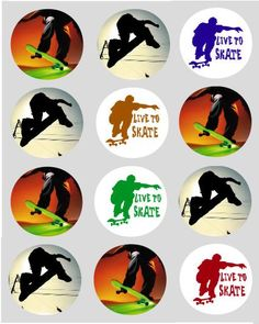Skateboard Party, Skateboard Boy, Pokemon, Skate Party, 13th Birthday, Skateboarding, Cupcake Toppers, Birthday Party Themes, Surfing