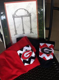 Georgia Bulldogs Chevron Pocket Tee by GeorgiaPrep on Etsy