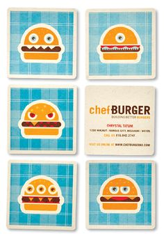 chefBURGER business cards By Tad Carpenter