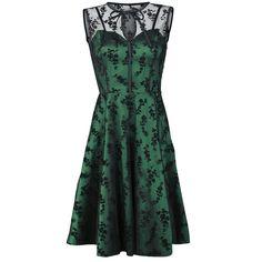 Originální šaty  Voodoo Vixen - Emerald    Krajka je ze 100% polyesteru. Délka: 100cm. Na boční straně je zip.