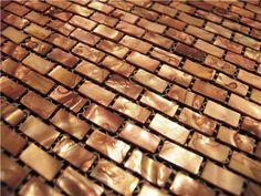 1 SF Copper Shell Mosaic Tile Backsplash Kitchen Wall Bathroom Shower Sink | eBay