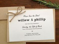 """Tying the Knot """"Save the Date"""" Card Set"""