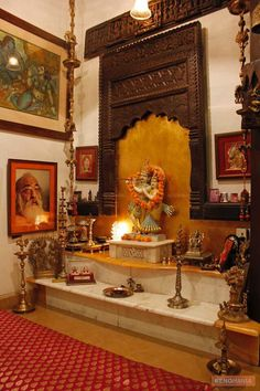 A typical Hindu Household shrine.