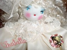 ISABELLA (PRIMO PIANO) ...colletto in stile shabby chic Mi trovi su Facebook LE BAMBOLE DI MOIRA SOLENA https://www.facebook.com/LeBamboleDiMoiraSolena/