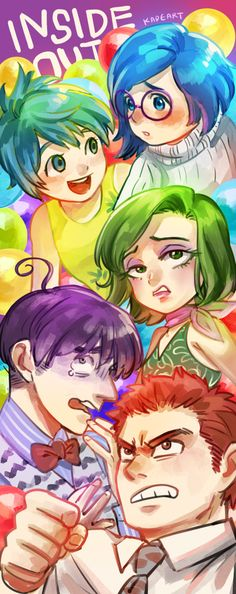 """Inside Out"" characters - Art by kadeart.tumblr.com 
