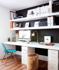 Double desk space