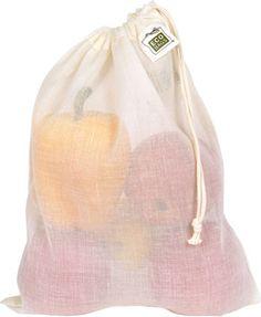 Natural Cotton Gauze Produce Bags Medium - ECOBAGS.com