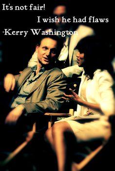 Kerry Washington  and Tony  Goldwyn       on  Scandal