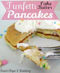 Cake Batter Pancakes on MyRecipeMagic.com