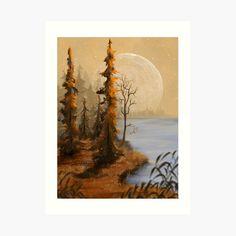 Thing 1, T Art, Jenni, Print Design, Art Print, Full Moon, Large Prints, Landscape Art, Sticker Design