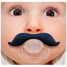 Baby Pacifier Gentleman Mustache Funny Pacifier Girls Boys  1-12 Months #GentlemenPacifier