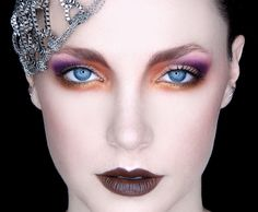 Brown lips - Eye make-up