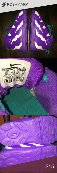 Toddler size 6 Nikes Purple white and teal colors. In great condition. Nike Shoes Sneakers