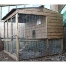 Raised poultry house and adjoining walk-in run - Chicken Houses and Runs - Chicken, Duck, Waterfowl and Poultry Housing