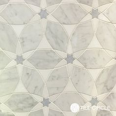 Beautiful marble waterjet tiles for backsplash tile or bathroom tile from TileCircle.com.