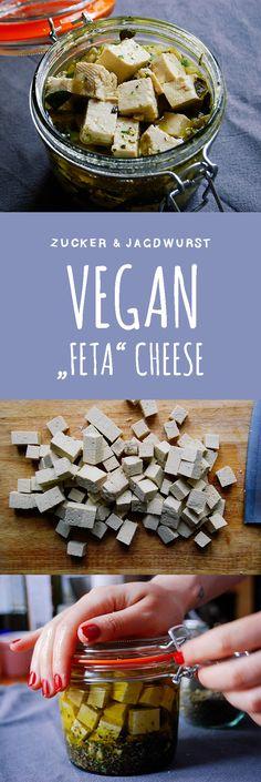 """Vegan """"Feta"""" Cheese made of Tofu"""