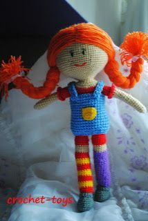 Pippi Longstocking crochet pattern by K and J Dolls, via ...