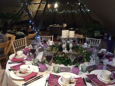 Winter wedding hire - Britannia Catering Yeovil Hire Catering Equipment, Wedding Hire, Cornwall, Table Settings, Table Decorations, Winter, Winter Time, Table Top Decorations, Place Settings