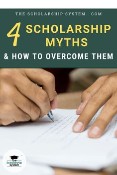 I am going to bust some scholarship myths so that you can focus on finding debt-free money.