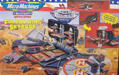 """Galoob """"Micro Machines"""" Military Battle Zones Falcon Wing Skybase playset"""