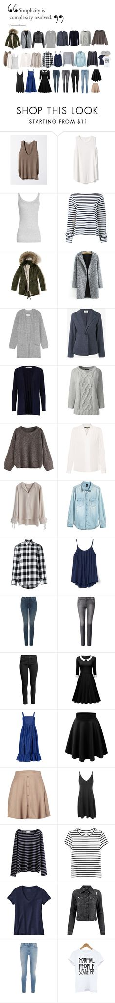 """30 item year-round capsule wardrobe"" by evil777squirrel ❤ liked on Polyvore featuring Gap, Vince, Jacquemus, Hollister Co., By Malene Birger, Maryam Nassir Zadeh, Diane Von Furstenberg, Lands' End, Kobi Halperin and Chicwish"