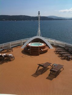 #Seabourn Sojourn Jacuzzi Area | #Pool #Cruises #Travel #Relax To be here right now.