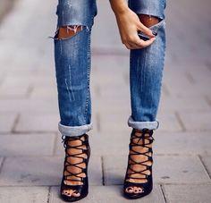 Lalia lace up heels at Public Desire