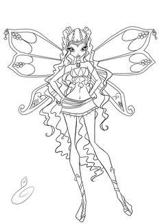 layla coloring by fantazyme on DeviantArt