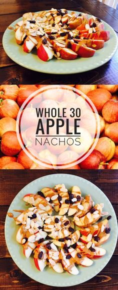 30 Apple Nachos Whole 30 Apple Nachos - fun amp; healthy snack for kids parties, brunches, or tailgating!Whole 30 Apple Nachos - fun amp; healthy snack for kids parties, brunches, or tailgating! Whole 30 Dessert, Whole 30 Snacks, Whole Foods, Whole 30 Lunch, Whole 30 Diet, Whole 30 Breakfast, Whole Food Recipes, Whole 30 Meals, Whole 30 Drinks