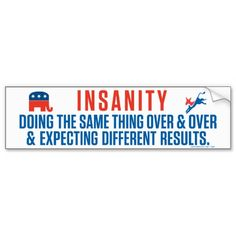 Bipartisan Insanity Bumper Sticker