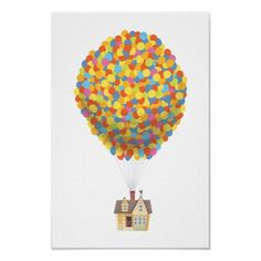 Balloon House from the Disney Pixar UP Movie print