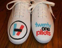 Twenty One Pilots  Hand Painted Shoes by HeyMoonShoes on Etsy, $55.00