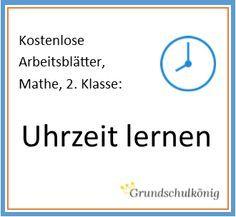 """Wir lernen die Uhr! Kostenlose Arbeitsblätter zum Thema """"Uhrzeit lernen"""" für Mathe in der 2. Klasse - zum Download als PDF."""