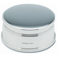 Classic Contemporary Sterling Silver Hallmarked Jewellery Box With Lined Interior With Plain Silver Top.