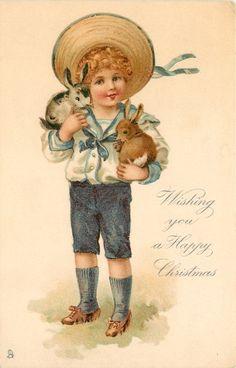 Винтажные рождественские и новогодние открытки с детьми - 3. Обсуждение на LiveInternet - Российский Сервис Онлайн-Дневников