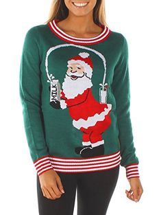 4746b0a8b82b0 Tipsy Elves Women's Break The Internet Ugly Christmas Swe... https://
